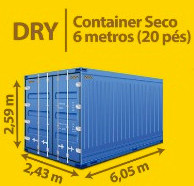 Dry Container Seco 6 metros